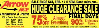 Huge Clearance Sale Final Days 75% off