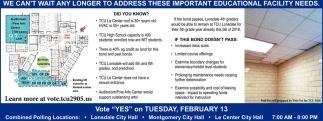 Vote YES on Tuesday, February 13, Tri-City United Public Schools, Montgomery, MN