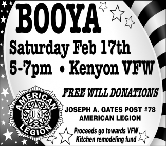 Proceeds go towards VFW Kitchen remodeling fund