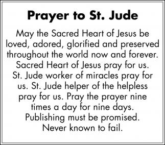 Prayer to St. Jude