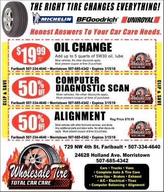 Services Wholesale Tire Faribault Mn