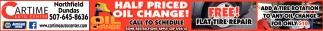 Half Priced Oil Change!