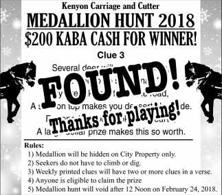 Medallion Hunt 2018