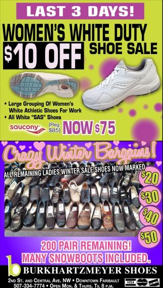 Women's White Duty Shoe Sale