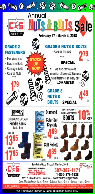 Annual Nuts & Bolts Sale
