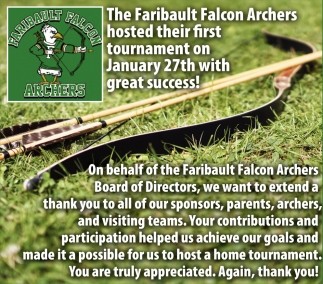 Tournament, Faribault Falcon Archers