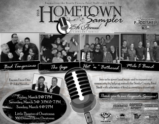 2018 Hometown Sampler 25th Annual Concert Series