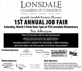 1st Annual Job Fair, Lonsdale Chamber of Commerce, Lonsdale, MN