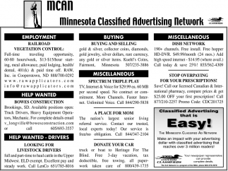Minnesota Classified Advertising Network, MCAN, MN
