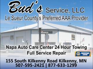Le Sueur County's Preferred AAA Provider, Bud's Service Center