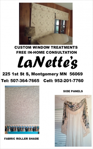 Custom Window Treatments, La Nette's