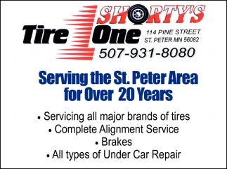 Serving the St. Peter Area for Over 20 Years, Shorty's Tire One, St. Peter, MN