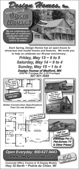 Design Homes Inc 50th Spring Open House Real Estate Ads From
