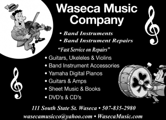 Band Instruments, Repairs, Accesories, Waseca Music Company, Waseca, MN