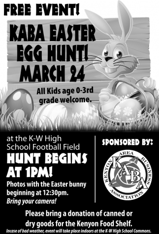 KABA Easter Egg Hunt!, Kenyon Area Business Association, Kenyon, MN