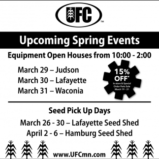 Upcoming Spring Events