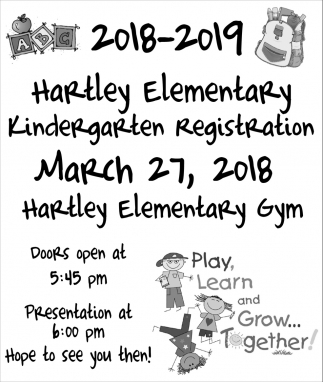 Kindergarten Registration, Hartley Elementary, Waseca, MN