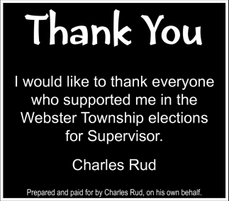 Thank You, Charles Rud