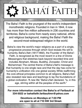 Baha'i Faith Worship