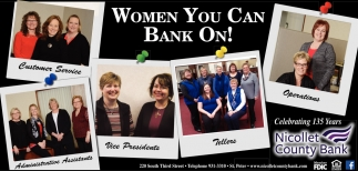 Women you can bank on!