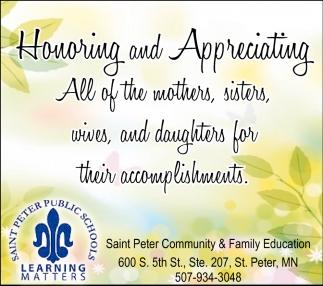 Honoring and Appreciating