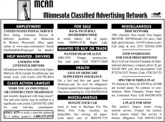 Minnesota Classified Advertising Network, MCAN, MN