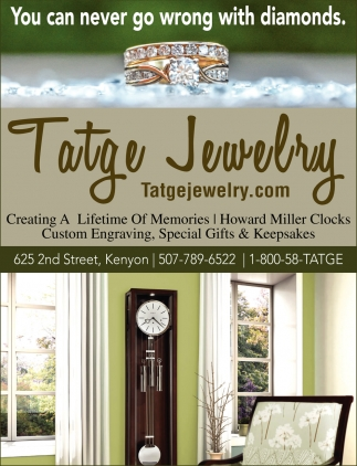 You can never go wrong with diamonds, Tatge Jewelry, Kenyon, MN