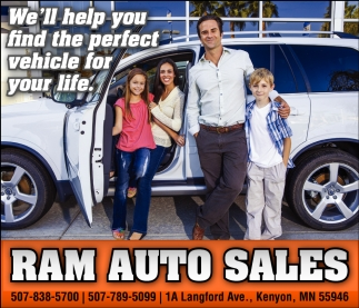We'll help you find the perfect vehicle for your life, Ram Auto Sales