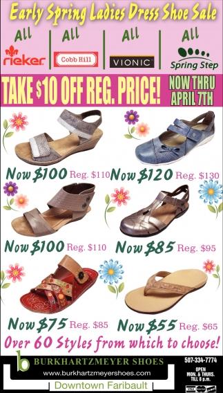 Early Spring Ladies Dress Shoe Sale