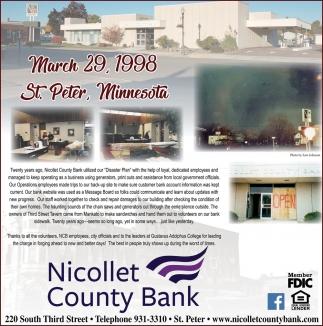 March 29, 1998 St. Peter, Minnesota