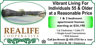 1 or 2 Bedroom Apartment Homes