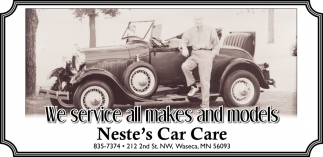 We service all makes and models, Neste\'s Car Care, Waseca, MN