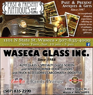 Since 1997, Past & Present Antiques and Gifts, Waseca, MN