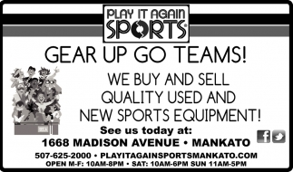 Gear Up Go Teams!!