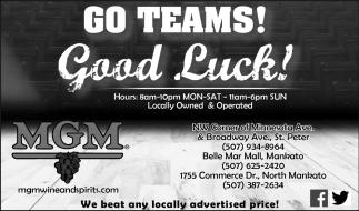 Go Teams Good Luck!