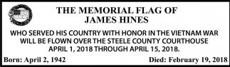 Memorial Flag of James Hines