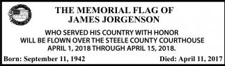 Memorial Flag of James Jorgenson