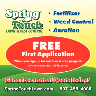 Free First Application, Spring Touch Lawn & Pest Control, Saint Peter, MN