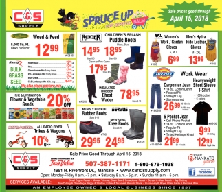 Spruce up for spring sale!