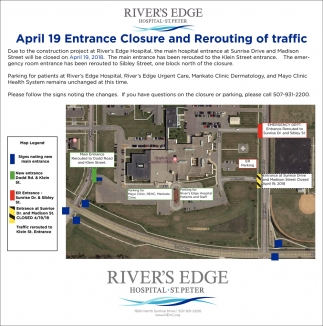 April 19 Entrance Closure and Rerouting of traffic