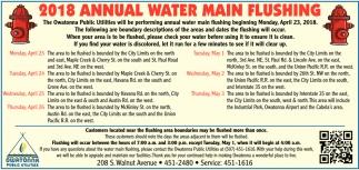 2018 Annual Water Main Flushing