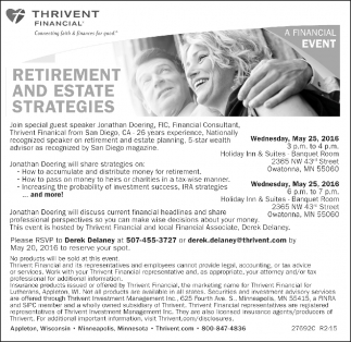 RETIREMENT AND ESTATE STRATEGIES