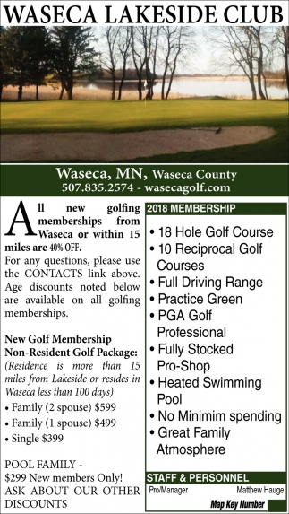 New Golf Membership Non-Resident Golf Packages