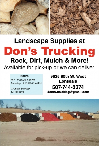 Trucking / Excavating, Don's Trucking, Lonsdale, MN