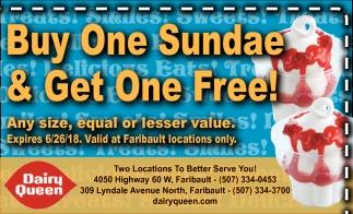 Buy One Sunday & Get One Free!