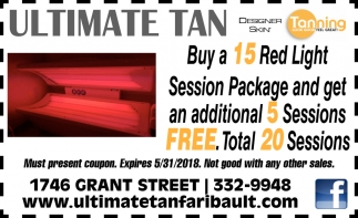 15 Tanning Session Package and get an additional 5 Sessions FREE