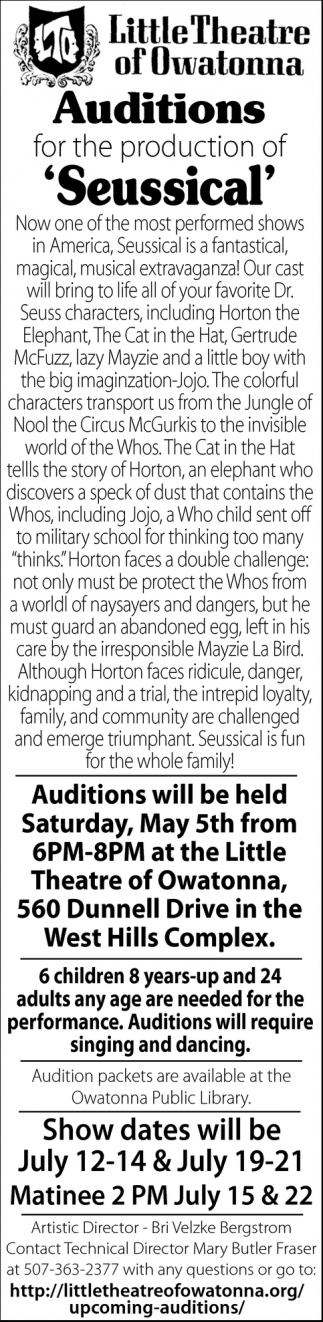 Auditions: Seussical