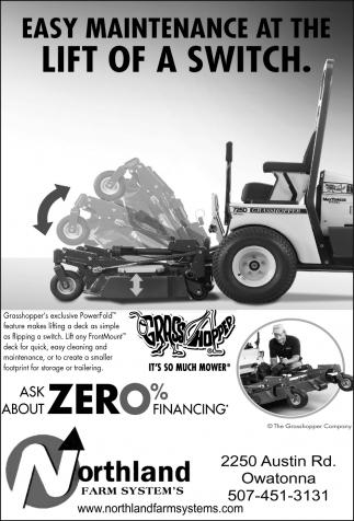 Grasshopper Zero% financing