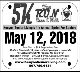 5k Fun Run Race & Walk