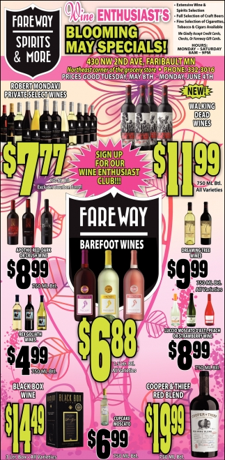 Blooming May Specials!